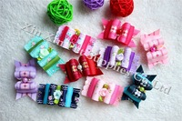 50pcs/lot Mix Style dog bows Large size bows Doggie Boutique Rose Flower Pearls pet hair bows hair accessories grooming product
