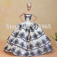 new arrvial 1/6 29cm doll's evening wedding princess dress for barbie doll