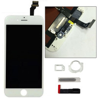 "10pcs/set 2014 New arrival LCD Touch Screen Display Digitizer + Frame Full Assembly For iPhone 6 4.7"" White"