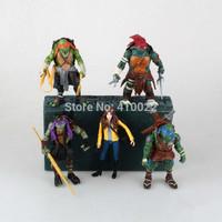 TMNT Teenage Mutant Ninja Turtles Action Figure Dolls 11-12cm Anime toys 5pcs/lot cartoon toys gift