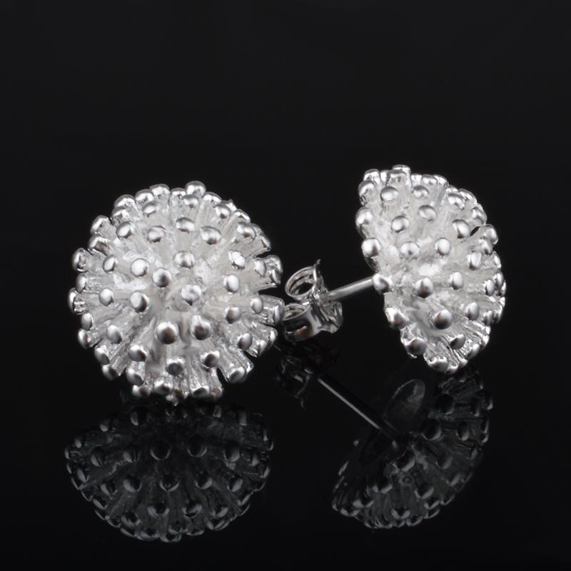 Stud Earrings 925 Silver Earring 2015 Fashion Sterling Silver Jewelry Women silver earrings Jewelry(China (Mainland))
