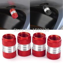 4pcs ALUMINUM Alloy Car Truck Motor Wheel Tire Valve Stem Caps Dust Covers Red FREE SHIPPING