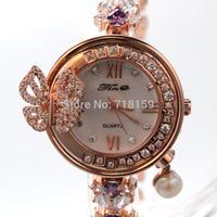 Original Luxury Brand Clock Relogios Reloj Mujer Women Dress Watch Rhinestone Quartz Bracelet Wristwatch waterproof 30ATM