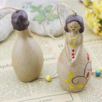 Handwork Originality Empress Queen Ceramics Barbie Doll Ceramics Princess Margaret Wind Chimes