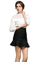 2015 Fishtail European High Waist Skirt Autumn and Spring Ball Gown Ruffles Trumpet Mermaid Plus Size High-quality Women Skirts