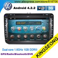 "Car Radio Stereo Pure Android 4.2.2 Car DVD VW PASSAT POLO GOLF JETTA Car PC 8"" Stereo GPS 3G WiFi BT DVR Dual-Core CPU 1.6GHz"