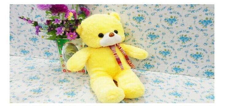 New style of Cute little teddy bear plush teddy bear hug dolls trumpet Plush Soft Toy Cute Doll Birthday Gift total 44cm(China (Mainland))