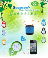 2015 New 3 In 1 Mini Bluetooth Music Remote Shutter Selfie BT3.0 For All Smartphones Free Shipping