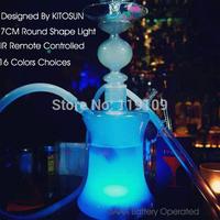 Glass Hookah Chicha Smoke Rushed Bent Type Tobacco Pipe 2014 New Design Remote Control Hookah Shisha Led Light  Magical Smooking