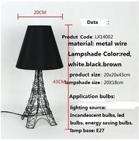 Modern Novelty Creative Fabric Lampshade Effiel Tower Bedroom Beside Table/Desk Lamps/Lights/Lighting Indoor Lighting Fixtures
