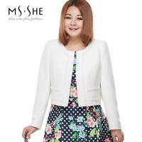 Msshe plus size clothing 2014 polka dot print a one-piece dress twinset 2226