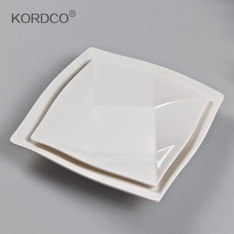 accept mixorder customize melamine tableware porcelain square plate dish fruit plate white plate freeshipping(China (Mainland))