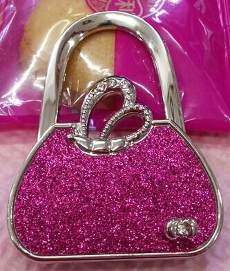 10pcs Glitter Pattern Handbag Design Foldable Purse Hanger Holder Table Hook for Ladies Free shipping wholesale(China (Mainland))