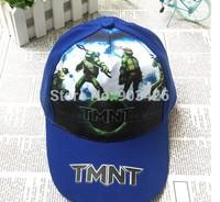 Free Shipping!50pcs/Lot  Fashion Movie Charater TMNT Baseball Caps Cartoon Cotton Kids Visors Berets Cap G057  Wholesale