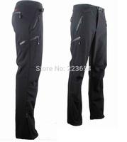 Fashion brand Men's outdoor Polar fleece soft shell Casual Pants Ripstop Waterproof windproof climbing sports trousers