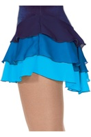 Shiver skating skirt 306 ruffle layer skirts - for sky blue figure skating suit free shipping ice
