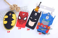 1PCS For Samsung Galaxy Note 3 N9000 Case 3D Cartoon Spiderman Batman Superman Soft Silicone Case Covers Mobile Phone Bags Cases