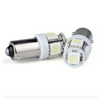 2X T11 BA9S 5 SMD 5050 LED Light bulbs 5SMD T4W 1445 Q65B H6W 182 53 57 Car Indicators Light Interior Bulb Wedge Lamp 7color