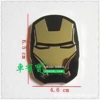 Iron man car sticker aluminum alloy personality stickers metal decorative sticker/anti-collision sticker