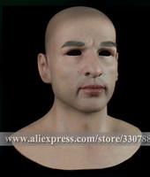 [ SF-N10] Top quality realistic silicone masks, full head mask halloween, mens masquerade masks, human face mask christmas