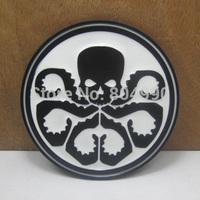 Avengers Captain America Hydra black skull belt buckle FP-03513-1 with black coating free shipping