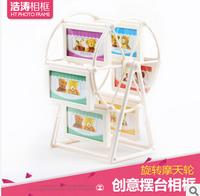 Free shipping,1 pc,Ferris wheel windmill children 3-inch plastic swing sets creative photo frame photo frame combination