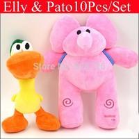 Wholesale 10pcs/lot New 2015 POCOYO Plush Baby Toys Cartoon Stuffed Dolls Anime  Hobbies Elly Pato POCOYO Toys Kids Gifts