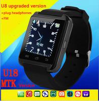 New Bluetooth Smartwatch U8 U Smart Watch for iPhone 4/4S/5/5S Samsung S4/Note 3 HTC Android Phone Smartphones Smart Wristwatch