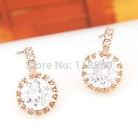 New Arrival zircon accessories Zircon Earrings Sweet Bling OL Earrings Fashion Earrings For Women