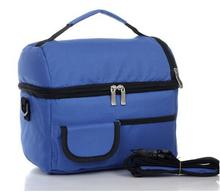 Almoço portátil Picnic Bag duplas saco térmico saco de gelo fresco Bag Lunch Box Camping Kit de almoço mão bolsa 4 Color grátis frete(China (Mainland))