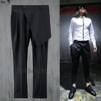 2015 men novelty pants Korean fashion personality harem pants hanging low crotch pants