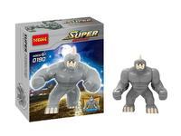 wholesale Decool 0190 Super Heroes Avengers Action Figures Building Blocks Minifigures Toy Big Lazy Rhino Figure Bricks toys
