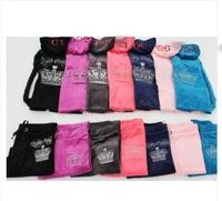 free shipping 2014 new women embroidery sweatshirt velvet leisure hoodies velour tracksuits YOGA sport suit