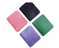 2015 New Arrival Unisex Solid Casual Emma Yao Head Layer Cowhide Women's Zero Wallet Leather Bag Key Coin Zipper Mini Card