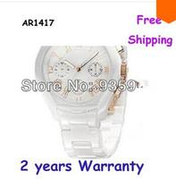 New Women's AR1417 1417 ceramic watch with Original box