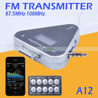 Wireless 30 Pin Jack Stereo Radio In-Car FM Transmitter for iPhone 4 4s iPod