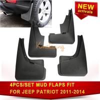 4pcs/Set Mud Flaps For Jeep Patriot Right Left Guards Splash Flap Guard Front Rear Mudguard Black ABS