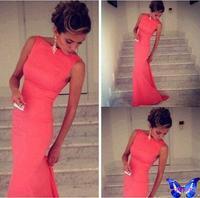 Fashion Women's Bandage Dress Sleeveless Bodycon Vestido De Festa Black Blue Red Charles Tailing Sexy Club Dress Plus Size
