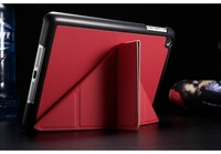 5 Shapes Transfer PU Leather Stand case for iPad Mini / Mini Retina 2 New Smart cover luxury Red Pink White Black Blue Green
