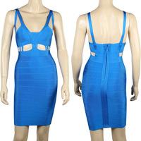 2015 Spring New Arrival European Brand HL Bandage Dress Spaghetti Strap Bandage Party Dress