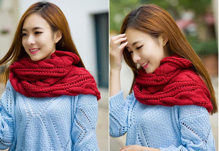 Вязание крючком модный зимний шарф-палантин 98