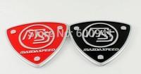 1PCS Shield MS Luxury  Car Chrome 3D Badge Emblem Sticker  Hood Grille Bumper Trail Boot Trunk  Red or Black