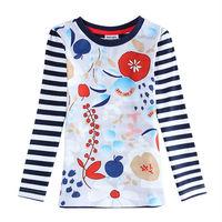 Girl T Shirt Nova Brand Girl Roupas Infantil Striped All for Children's Clothing and Accessories Shirt Girl F5640