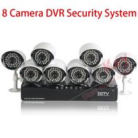 600tvl 8Ch Camera DVR Security System H.264 Surveillance Motion Detection Alarm Recording 3G Mobile Survillance Support