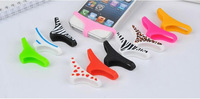 2PCS Sexy Lady Home Button Underwear Thong Soft Silicone Phone Case Cover For iPhone 5 5S 4 4S Samsung HTC Sony LG Xiaomi Huawei