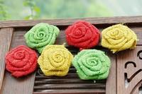 New arrival burlap wreath Burlap Flowers Rose for Wedding Decor/JuteCraft Rustic-linen rose/ Jute rose- free shipping