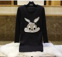 new winter 2015  women's bottoming shirt plus thick velvet knit women velvet sweaters