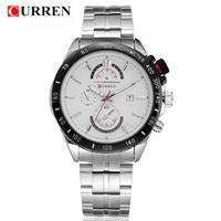 2015 New Fashion CURREN Brand Elegant Men's Luxury Business Watches Automatic Date Men Clothing Waterproof Quartz Movement Watch