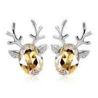 Factory Price crystal earrings  18K crystal earings  Hot Selling real 18k diamond earing  China brand st-pure