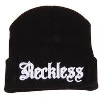 hat for women woolen yarn beanies for man 2014 new hot sale cap Fashion letter caps women hip top balck  beanie keep warm  H114